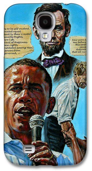 Obama Galaxy S4 Cases - Obamas Heritage Galaxy S4 Case by John Lautermilch