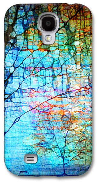 Companion Digital Art Galaxy S4 Cases - Obscured in Blue Galaxy S4 Case by Tara Turner