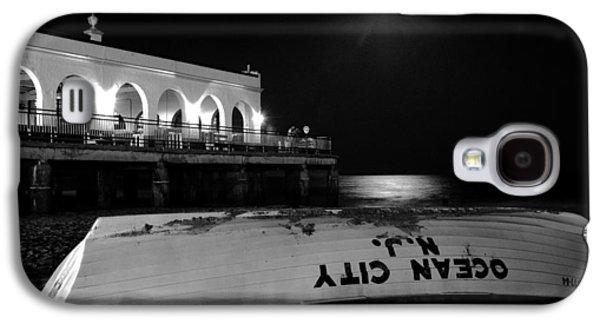 Sea Moon Full Moon Galaxy S4 Cases - Ocean City Music Pier Galaxy S4 Case by Don Mennig