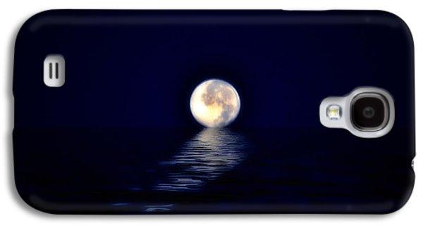Sea Moon Full Moon Galaxy S4 Cases - Ocean Moon Galaxy S4 Case by Bill Cannon