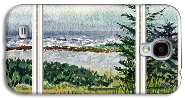 Ocean Shore Window View Galaxy S4 Case by Irina Sztukowski