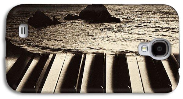 Ocean Washing Over Keyboard Galaxy S4 Case by Garry Gay