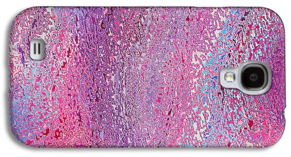 Digital Tapestries - Textiles Galaxy S4 Cases - Oceania Magenta Galaxy S4 Case by FabricWorks Studio