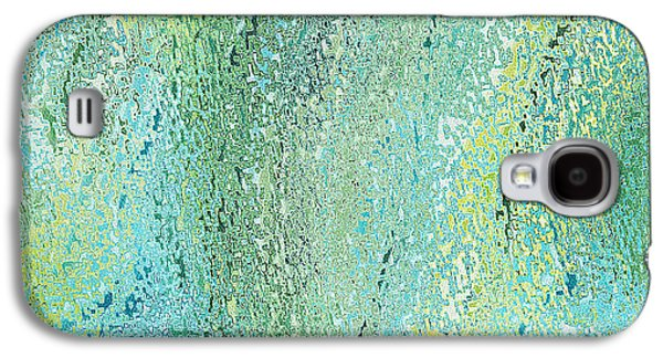 Digital Tapestries - Textiles Galaxy S4 Cases - Oceania Seagreen Galaxy S4 Case by FabricWorks Studio