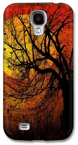 Halloween Digital Galaxy S4 Cases - October Moon Galaxy S4 Case by Ron Jones