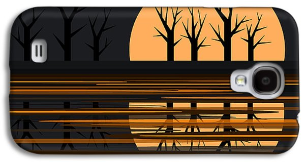 Abstract Landscape Galaxy S4 Cases - October Pond Galaxy S4 Case by Val Arie