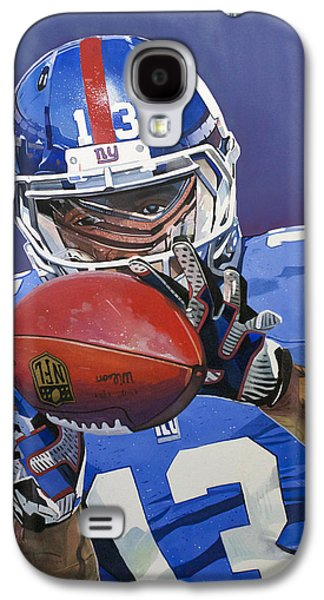 Wide Receiver Galaxy S4 Cases - Odell Beckham Jr. Catch New York Giants Galaxy S4 Case by Michael Pattison