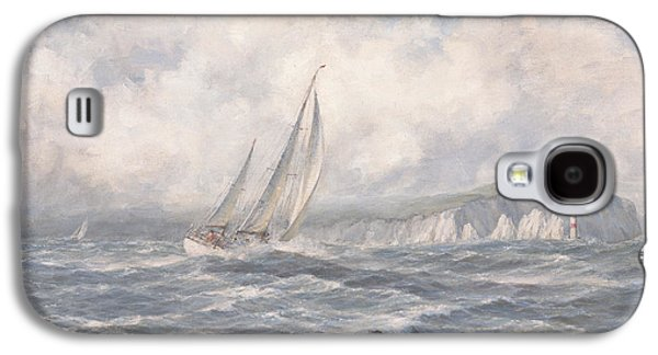 Sailing Ship Galaxy S4 Cases - Off the Needles  Isle of Wight Galaxy S4 Case by Richard Willis