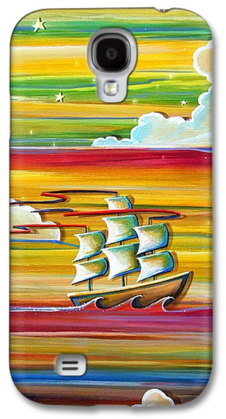 Pirate Ships Galaxy S4 Cases - Off To Neverland Galaxy S4 Case by Cindy Thornton