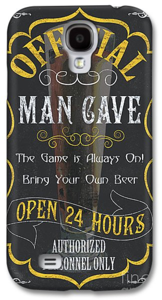 Cold Paintings Galaxy S4 Cases - Official Man Cave Galaxy S4 Case by Debbie DeWitt