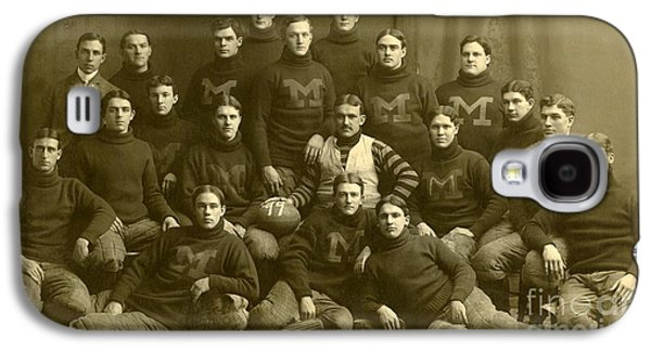 Official Photograph Of 1899 Michigan Wolverines Football Team Galaxy S4 Case by Celestial Images