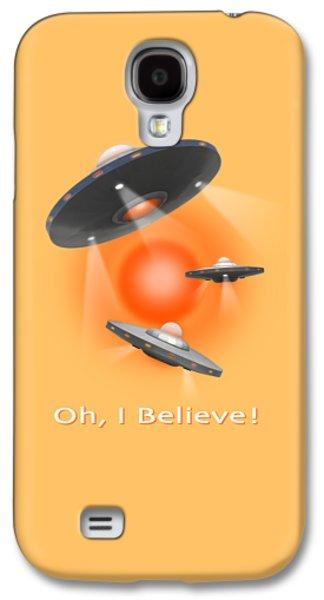 Shirt Digital Galaxy S4 Cases - Oh I Believe  SE Galaxy S4 Case by Mike McGlothlen