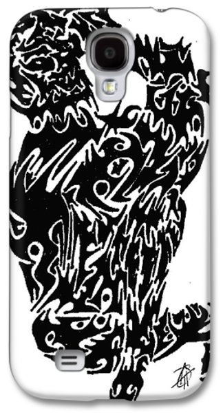 Abstract Digital Drawings Galaxy S4 Cases - Oh Joy Galaxy S4 Case by AR Teeter