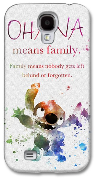 Animation Galaxy S4 Cases - Ohana means Family Galaxy S4 Case by Rebecca Jenkins