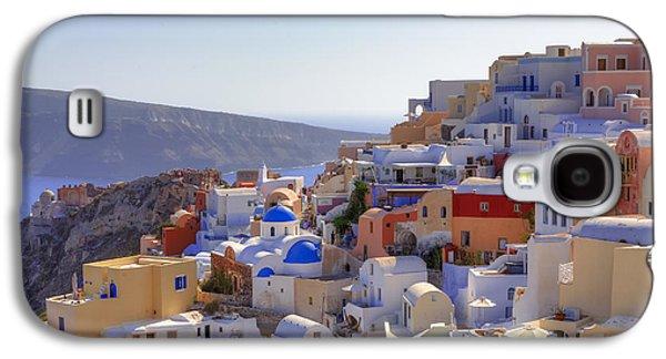 Panoramic Galaxy S4 Cases - Oia - Santorini Galaxy S4 Case by Joana Kruse