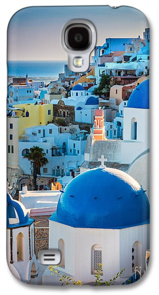 Europa Galaxy S4 Cases - Oia Town Galaxy S4 Case by Inge Johnsson