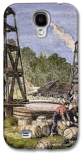 19th Century America Galaxy S4 Cases - Oil Well, 19th Century Galaxy S4 Case by Granger