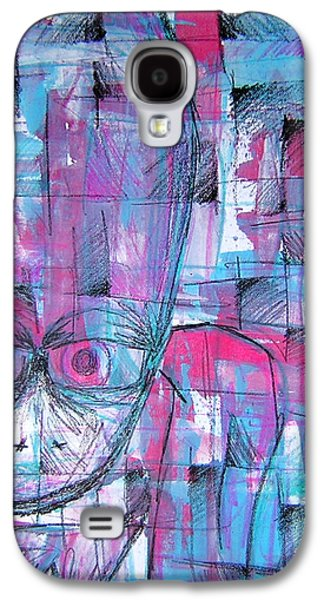 Character Portraits Mixed Media Galaxy S4 Cases - Ojo Galaxy S4 Case by Jera Sky