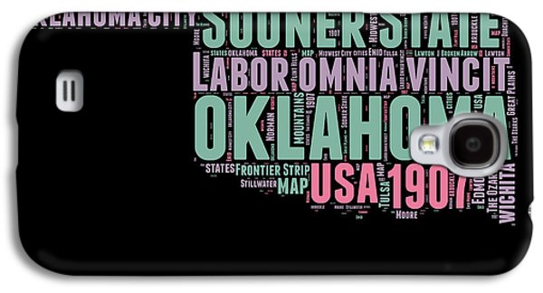4th July Mixed Media Galaxy S4 Cases - Oklahoma Word Cloud 1 Galaxy S4 Case by Naxart Studio