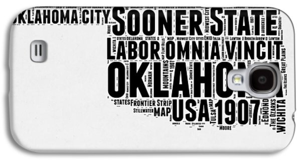 4th Of July Mixed Media Galaxy S4 Cases - Oklahoma Word Cloud 2 Galaxy S4 Case by Naxart Studio