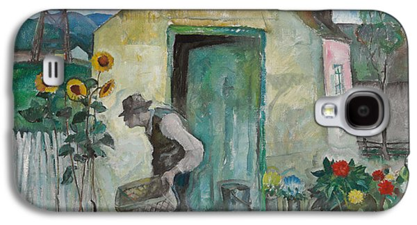 Garden Scene Drawings Galaxy S4 Cases - Old Albert  Galaxy S4 Case by Newell Convers Wyeth