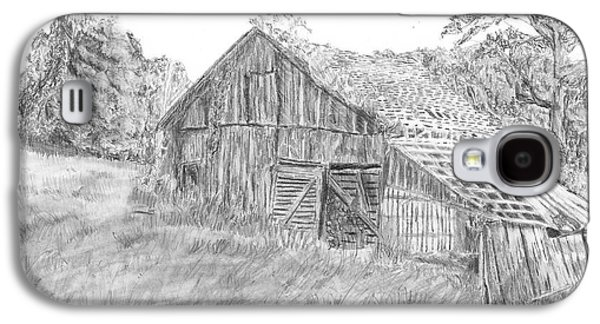 Old Barn Drawing Drawings Galaxy S4 Cases - Old Barn 3 Galaxy S4 Case by Barry Jones