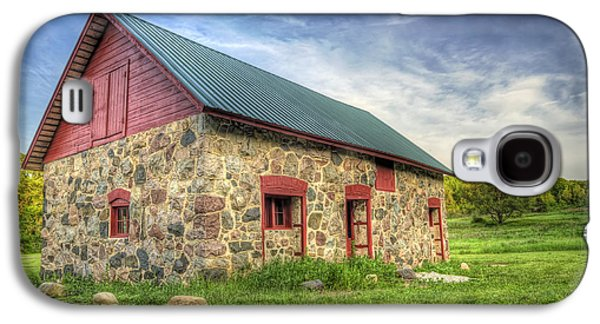 Red Roofed Barn Galaxy S4 Cases - Old Barn at Dusk Galaxy S4 Case by Scott Norris