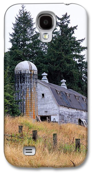 Barn Pen And Ink Galaxy S4 Cases - Old Barn in Field Galaxy S4 Case by Athena Mckinzie