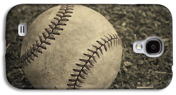 Base Galaxy S4 Cases - Old Baseball Galaxy S4 Case by Edward Fielding
