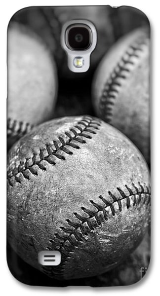 Old Baseballs In Black And White Galaxy S4 Case by Edward Fielding