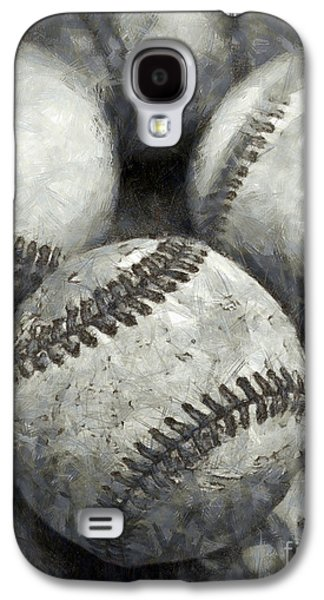 Old Baseballs Pencil Galaxy S4 Case by Edward Fielding