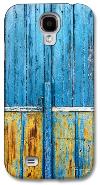 Painted Details Galaxy S4 Cases - Old Blue Door Detail Galaxy S4 Case by Carlos Caetano