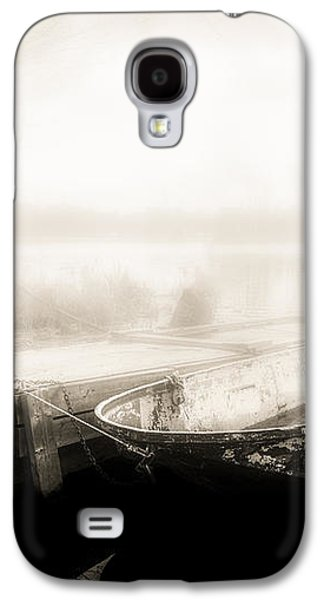Dreamscape Galaxy S4 Cases - Old Boat On A Foggy Morning Galaxy S4 Case by Bob Orsillo