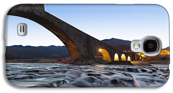 Village Tapestries - Textiles Galaxy S4 Cases - The humpbacked bridge in Bobbio Galaxy S4 Case by Marco Amenta