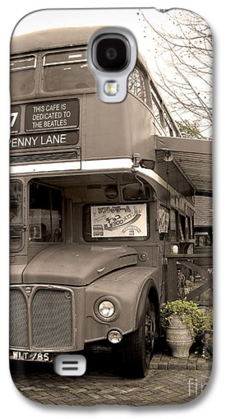 Beatles Photographs Galaxy S4 Cases - Old Bus Cafe Galaxy S4 Case by Eena Bo