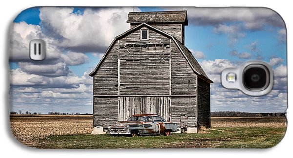 Scott Nelson Galaxy S4 Cases - Old Car and Barn Galaxy S4 Case by Scott Nelson