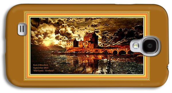Abstract Digital Pastels Galaxy S4 Cases - Old Castle - Scotland H A With Decorative Ornate Printed Frame. Galaxy S4 Case by Gert J Rheeders