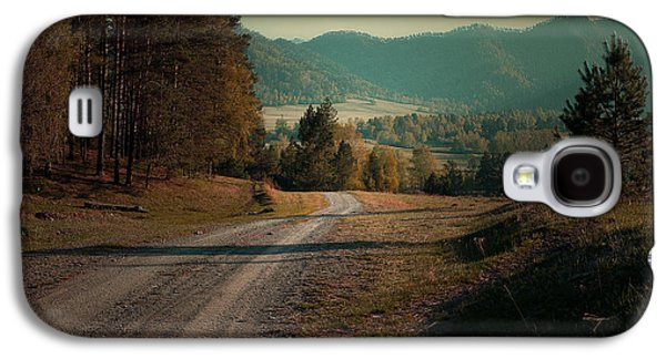 Sunset Abstract Galaxy S4 Cases - Old Country Road Galaxy S4 Case by Lana Art