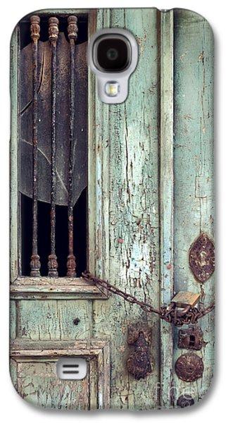 Entrance Door Galaxy S4 Cases - Old Door Detail Galaxy S4 Case by Carlos Caetano