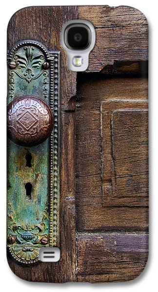Old Door Galaxy S4 Cases - Old Door Knob Galaxy S4 Case by Joanne Coyle