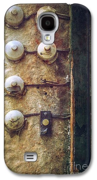 Mess Photographs Galaxy S4 Cases - Old Doorbells Galaxy S4 Case by Carlos Caetano