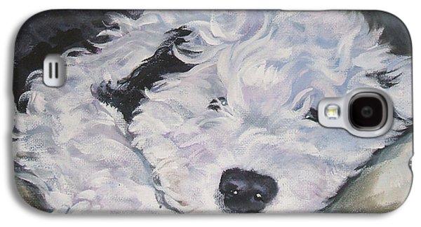 Old English Sheepdog Pup Galaxy S4 Case by Lee Ann Shepard