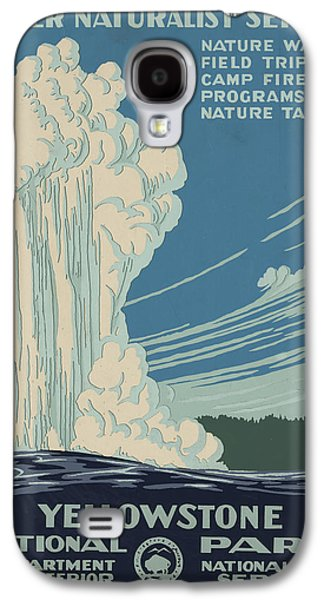 Yellowstone Digital Galaxy S4 Cases - Old Faithful At Yellowstone Galaxy S4 Case by Unknown