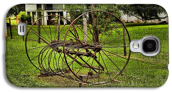 Machinery Galaxy S4 Cases - Old Farm Equipment Galaxy S4 Case by Judy Vincent