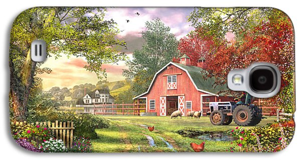 Horizontal Digital Art Galaxy S4 Cases - Old Farm House Variant 1 Galaxy S4 Case by Dominic Davison