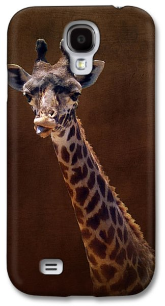 California Tourist Spots Galaxy S4 Cases - Old Funny Face Giraffe Galaxy S4 Case by Carla Parris