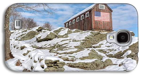 Old Glory Winter Galaxy S4 Case by Bill Wakeley