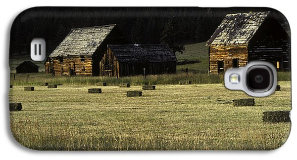 Hayfield Galaxy S4 Cases - Old Homestead-Potomac Montana Galaxy S4 Case by Thomas Schoeller