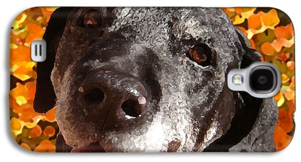 Labs Digital Galaxy S4 Cases - Old Labrador Galaxy S4 Case by Amy Vangsgard