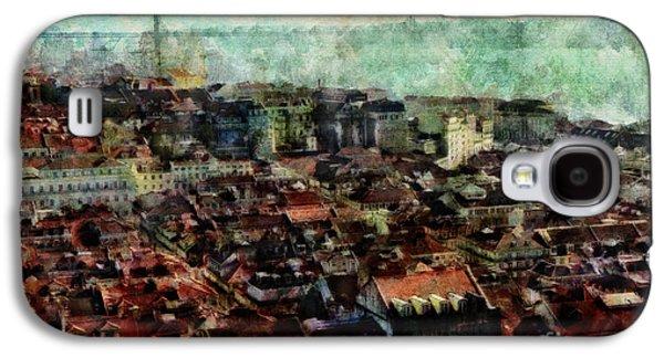 Portuguese Mixed Media Galaxy S4 Cases - Old Lisbon Galaxy S4 Case by Dariusz Gudowicz